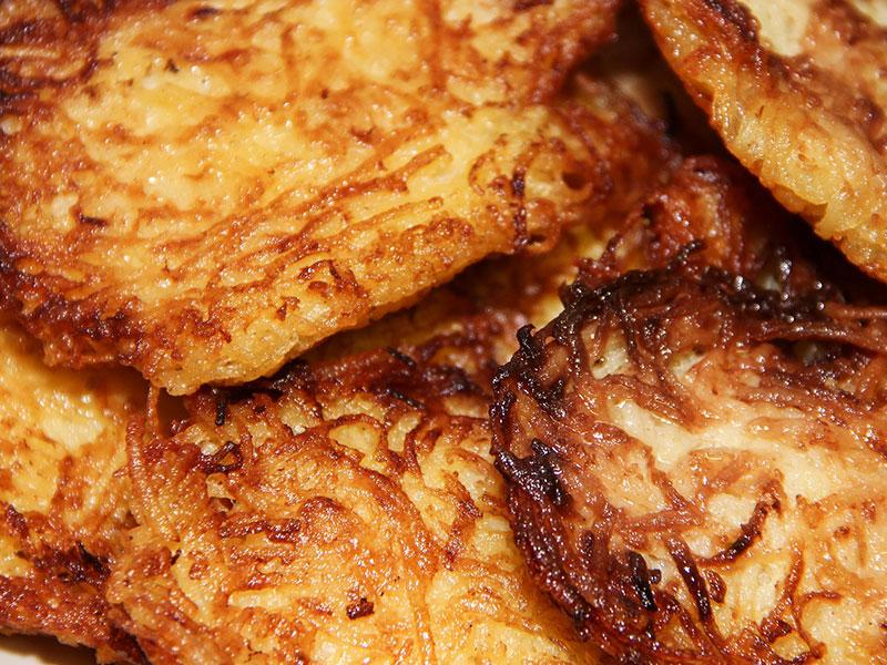 Rostis de pommes de terre (ou râpées)